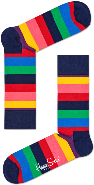 Mehrfarbige/Bunte HAPPY SOCKS Socken STRIPE SOCK - large