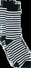 Schwarze Alfredo Gonzales Socken STRIPES BLACK WHITE  - small