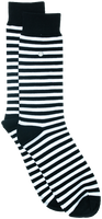 Schwarze Alfredo Gonzales Socken STRIPES BLACK WHITE  - medium