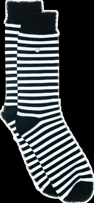 Schwarze Alfredo Gonzales Socken STRIPES BLACK WHITE  - large