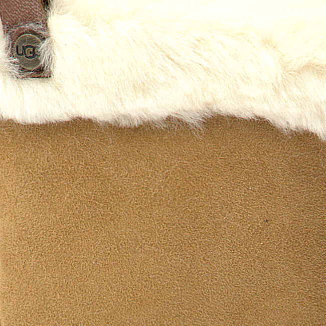 Camelfarbene UGG Handschuhe SHORTY GLOVE W/TRIM  - large