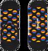 Schwarze HAPPY SOCKS Socken SUNRISE DOT LINER  - small