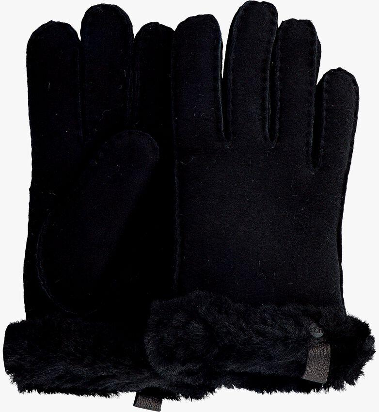 Schwarze UGG Handschuhe SHORTY GLOVE W/TRIM  - larger