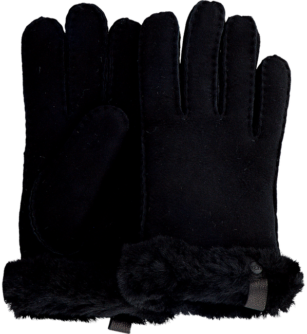 Schwarze UGG Handschuhe SHORTY GLOVE W/TRIM  - large
