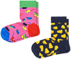 Mehrfarbige/Bunte HAPPY SOCKS Socken 2-PACK KIDS MOUSE  - small