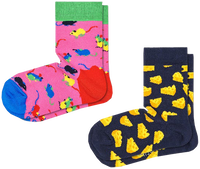 Mehrfarbige/Bunte HAPPY SOCKS Socken 2-PACK KIDS MOUSE  - medium