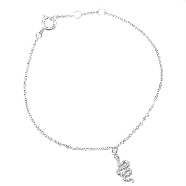 Silberne ALLTHELUCKINTHEWORLD Armband SOUVENIR NECKLACE SNAKE - large