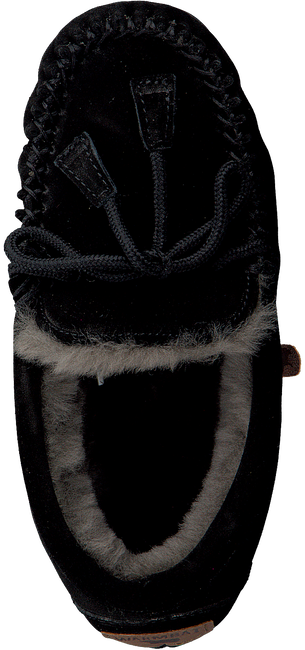 Schwarze WARMBAT Hausschuhe FJORDA WOMEN SUEDE - large
