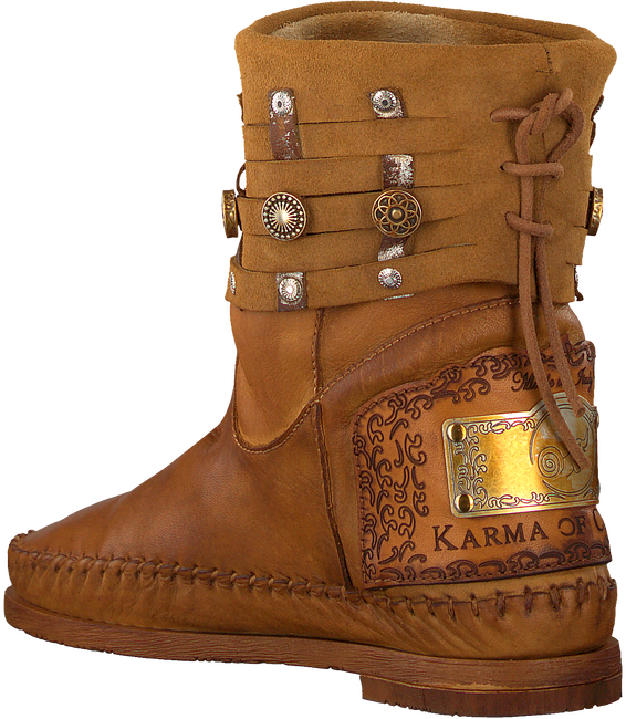Cognacfarbene KARMA OF CHARME Stiefeletten MOON - large