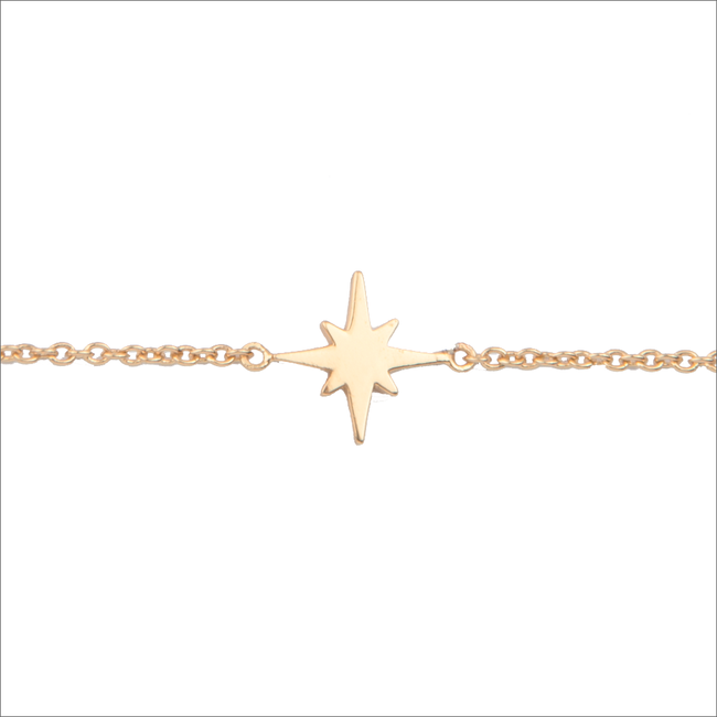 Goldfarbene ALLTHELUCKINTHEWORLD Armband SOUVENIR BRACELET STAR BURST - large