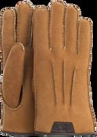 Cognacfarbene UGG Handschuhe CASUAL GLOVE WITH LEATHER LOGO - medium