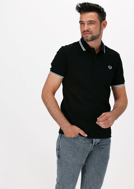 Schwarze FRED PERRY Polo-Shirt TWIN TIPPED PRED PERRY SHIRT  - large