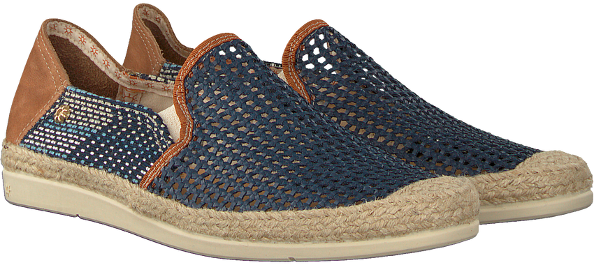 Blaue LA SIESTA Espadrilles 51084  - larger