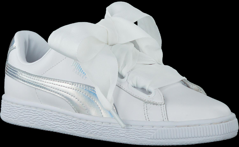 Weiße PUMA Sneaker BASKET HEART EXPLOSIVE Omoda