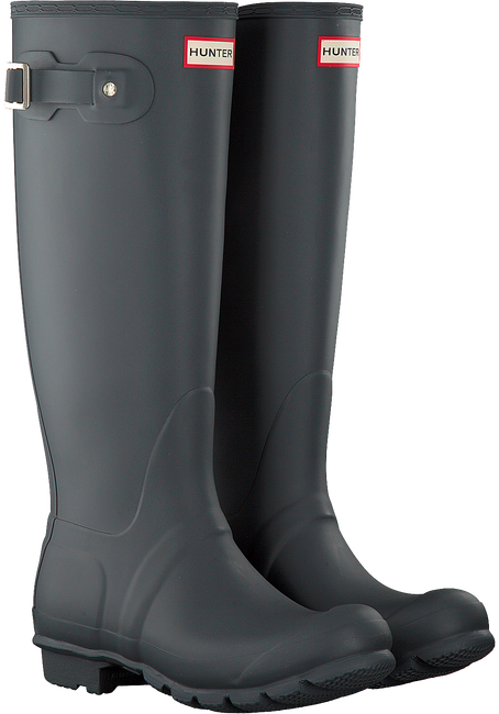 Graue HUNTER Gummistiefel WOMENS ORIGINAL TALL - large