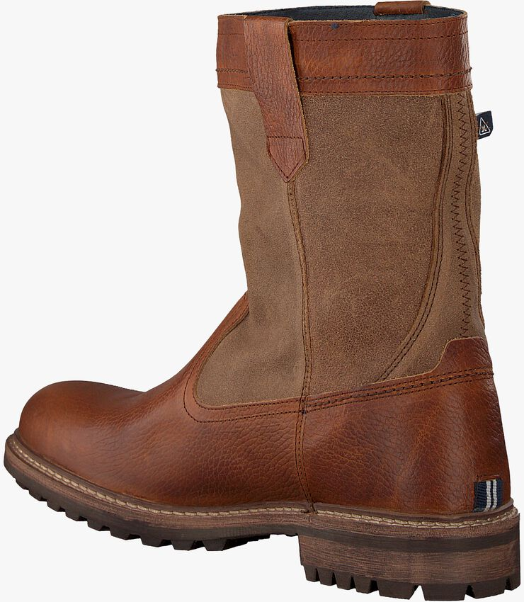Cognacfarbene GAASTRA Ankle Boots CABIN HIGH FUR - larger