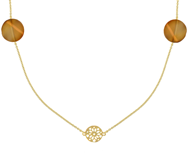Goldfarbene JEWELLERY BY SOPHIE Kette NECKLACE DESERT - large