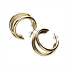 Goldfarbene NOTRE-V Ohrringe OORBEL DRIE RINGEN  - small