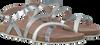 Silberne GIOSEPPO Sandalen SARDONICE - small