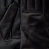 Schwarze UGG Handschuhe CLASSIC LEATHER SMART GLOVE - small