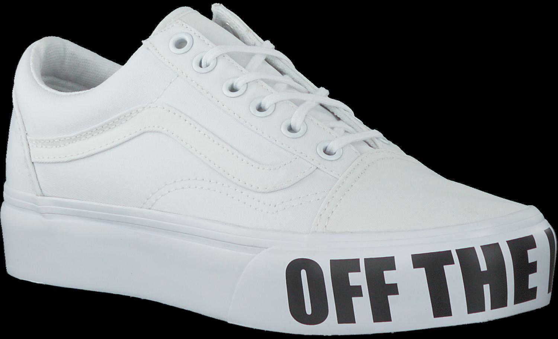 Weiße VANS Sneaker OLD SKOOL PLATFORM - Omoda