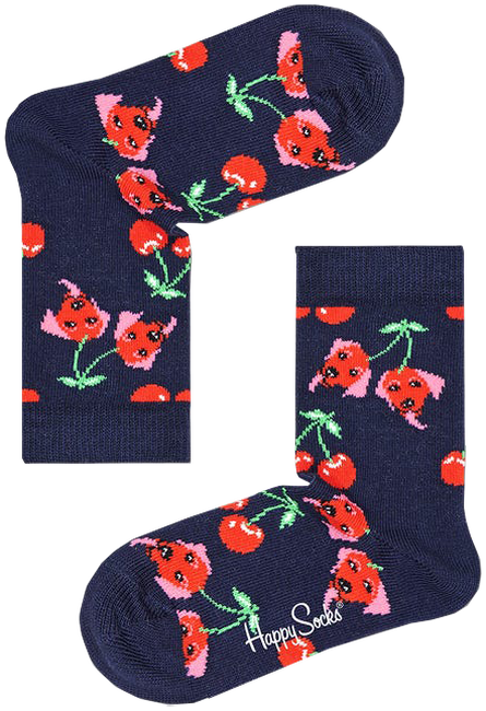 HAPPY SOCKS Socken KIDS CHERRY DOG  - large