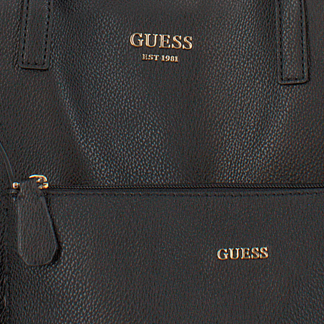 Schwarze GUESS Handtasche VIKKY TOTE  - large