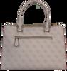 Graue GUESS Handtasche DOWNTOWN COOL STATUS SATCHEL  - small