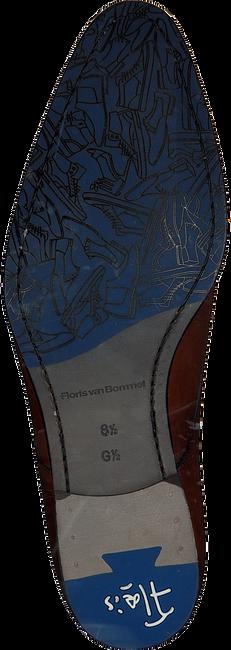 Cognacfarbene FLORIS VAN BOMMEL Schnürschuhe 18075 - large