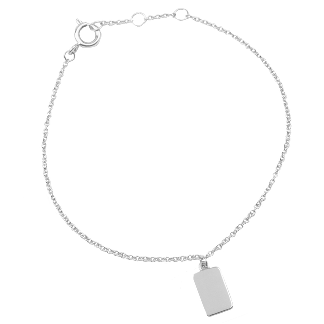 Silberne ALLTHELUCKINTHEWORLD Armband SOUVENIR EARRINGS RECTANGLE - large