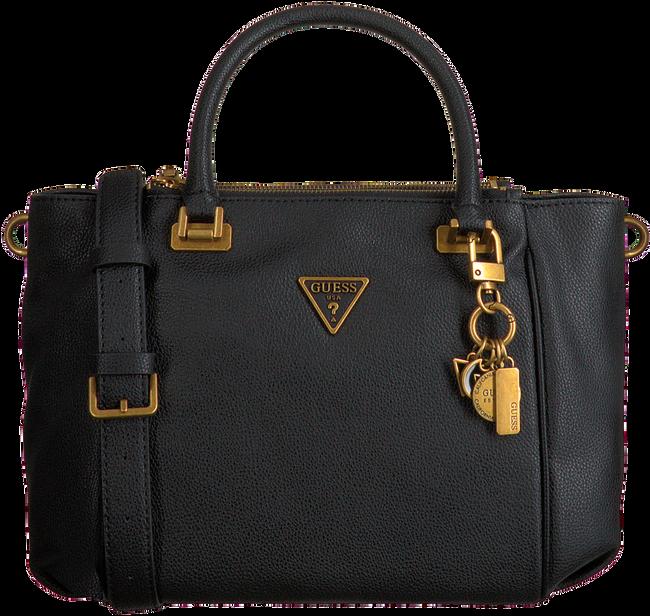 Schwarze GUESS Handtasche DESTINY STATUS SATCHEL  - large