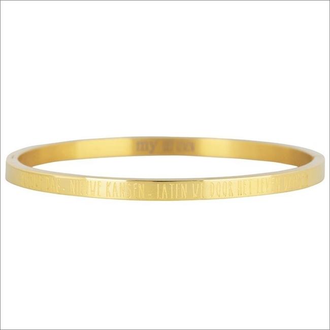 Goldfarbene MY JEWELLERY Armband NIEUWE DAG, NIEUWE KANSEN BANG - large