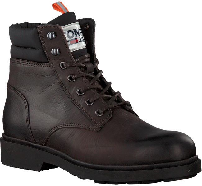 Braune TOMMY HILFIGER Schnürboots CASUAL BOOT  - large