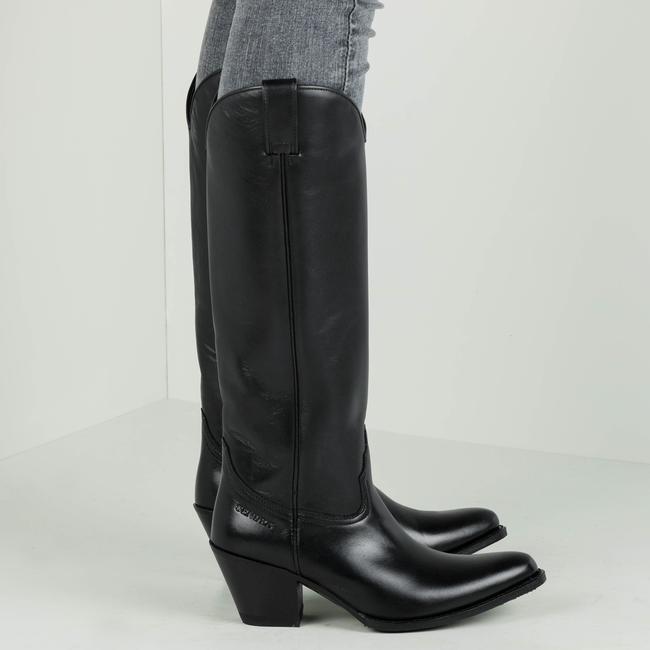 Schwarze SENDRA Hohe Stiefel 6592  - large