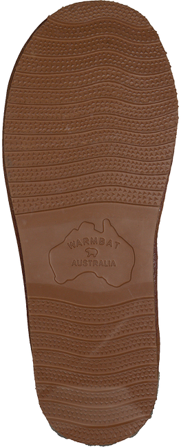 Cognacfarbene WARMBAT Hausschuhe CLASSIC UNISEX SUEDE - large