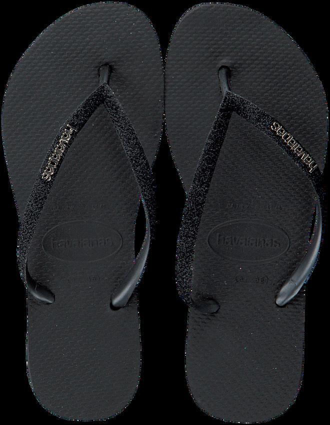 Schwarze HAVAIANAS Pantolette SLIM GLITTER  - larger