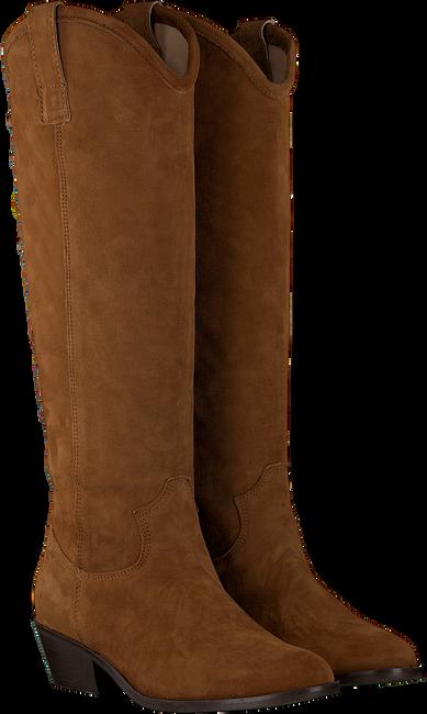 Cognacfarbene NOTRE-V Hohe Stiefel 01-130  - large