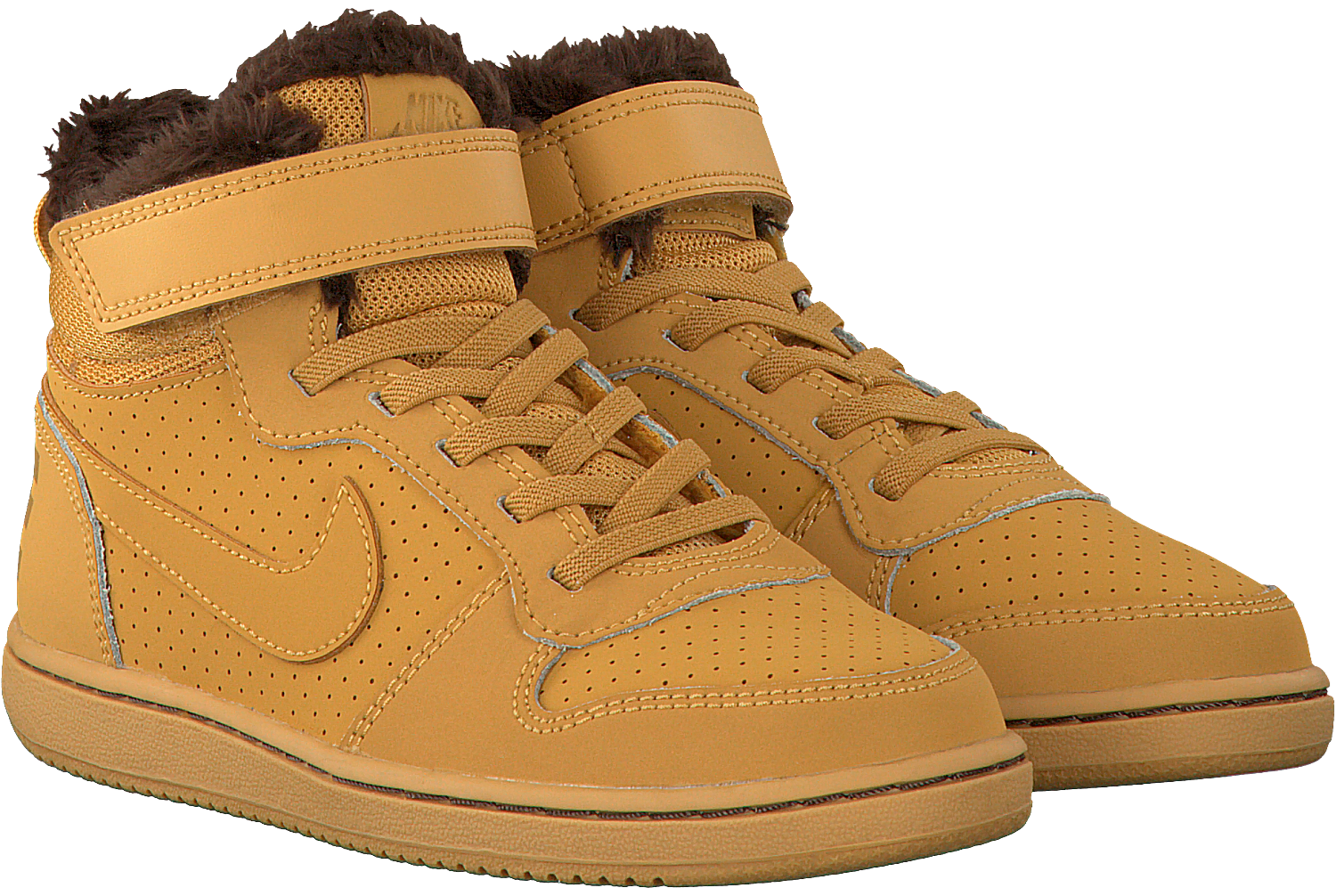Camelfarbene NIKE Sneaker COURT BOROUGH MID (KIDS)