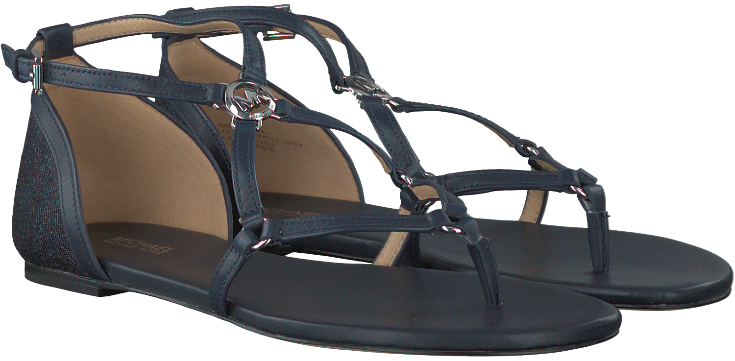 blaue michael kors sandalen terri flat schuhmode online. Black Bedroom Furniture Sets. Home Design Ideas