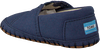 Blue TOMS shoe CRIB ALPARGATA  - small