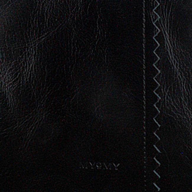 Schwarze MYOMY Handtasche WRAPPED WORKBAG  - large
