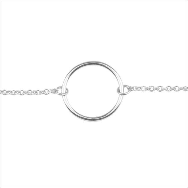 Silberne ALLTHELUCKINTHEWORLD Armband SOUVENIR BRACELET CIRCLE - large