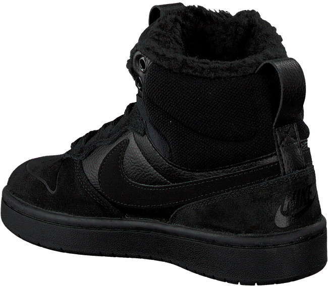 Schwarze NIKE Sneaker high COURT BOROUGH MID WINTER KIDS  - large