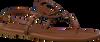 Cognacfarbene COACH Sandalen JERI LEATHER SANDAL  - small