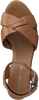 Cognacfarbene TOMMY HILFIGER Sandalen TH RAFFIA HIGH WEDGE  - small
