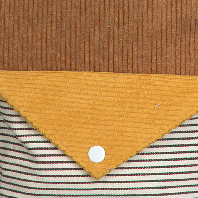 Braune STICKY LEMON Rucksack CORDUROY SMALL  - large