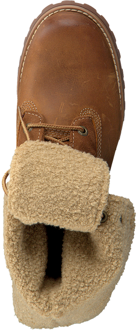 Cognacfarbene TIMBERLAND Ankle Boots 6IN WP SHEARLING BOOT - large