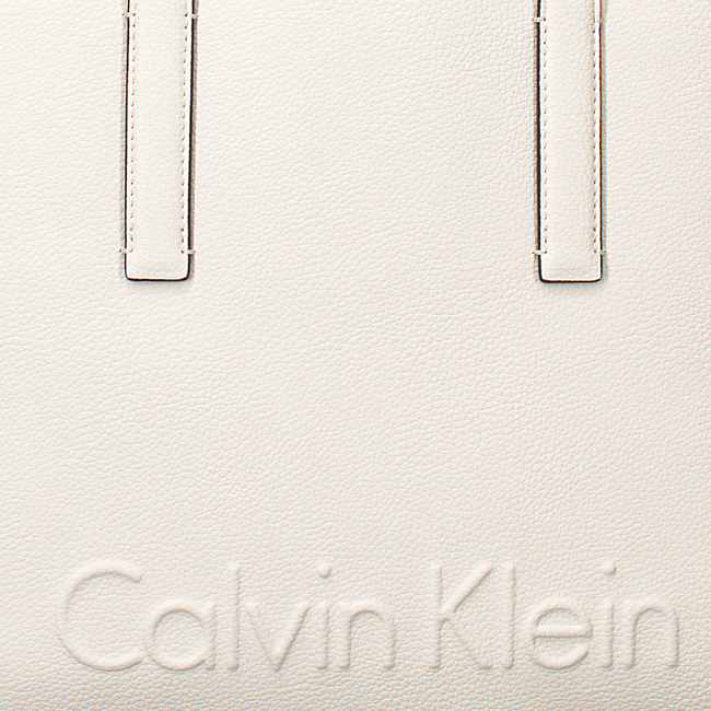Weiße CALVIN KLEIN Shopper EDGE MEDIUM SHOPPER - large