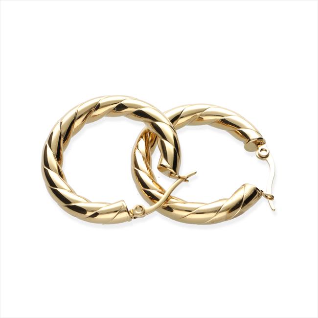 Goldfarbene NOTRE-V Ohrringe OORBEL GEDRAAID  - large