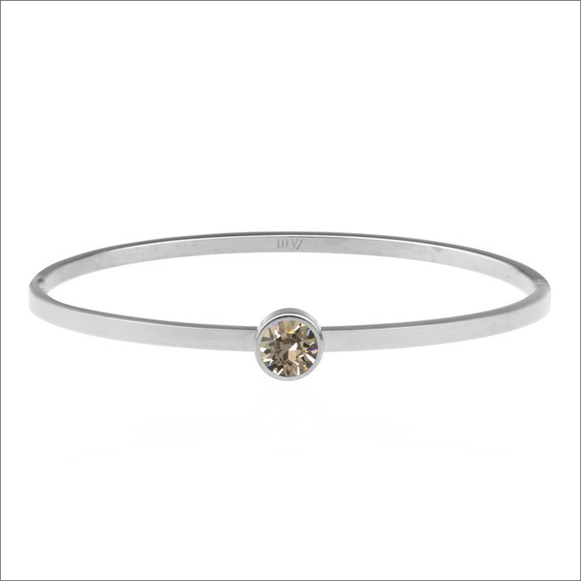 Silberne MY JEWELLERY Armband LITTLE STONE BANGLE - large